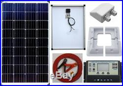 100w Solar Panel + LCD Auto Controller c/w 2 x USB +6m cable fuse clips full Kit