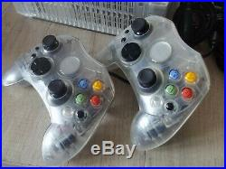 160GB Xbox Crystal Clear Console with 2 controllers -PAL, EU, X-BOX