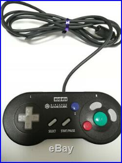 Hori Gamecube gc Digital Controller Pad Black Tested&working Excellent NO Box