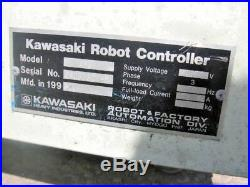 Kawasaki A 83 Js030 6 Axis Industrial Robotic Arm With Controller Box Low Hours