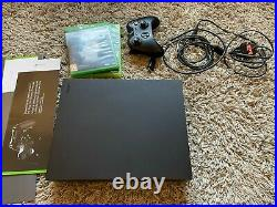 Microsoft Xbox One X 1TB Black Console boxed all cables controller 2 games mint