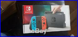 New Nintendo Switch 32GB Neon Red/Neon Blue & MarioKart Deluxe 8 Game, boxed