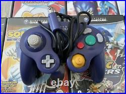 Nintendo GAMECUBE Purple Bundle GAMES CONTROLLERS GAMEBOY ADVANCE PLAYER BOXED