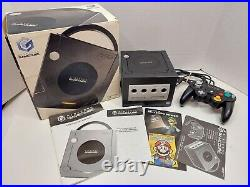 Nintendo Gamecube Jet Black Console Complete in Box CIB, Tested OEM Controller