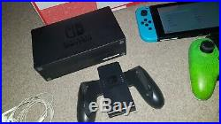 Nintendo Switch 32GB Red Blue Console with Joy Con Controllers Boxed Extras