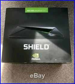 Nvidia Shield Pro 500GB Android TV Gaming Box with Two Controllers Boxed