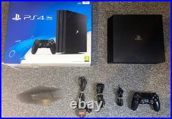 PlayStation PS4 Pro Console 1TB Black Boxed 1 Controller, Cables And Stand