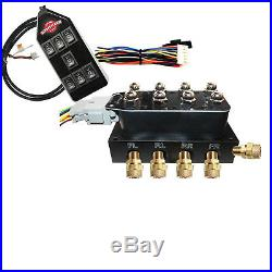 Slam'R 4 Corner Solenoid Valve with 14 Function up/down Air Bag Ride Controller