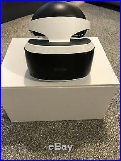 Sony PS4 VR Bundle Inc Headset, Processor Unit Box, Camera & All Cables. Boxed