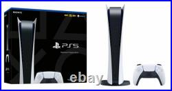 Sony PS5 Digital Edition Console White BOXED All Cables & Controller Incl