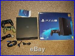 Sony Playstation 4 Pro 1TB Game Console Black Boxed with 2 Controllers